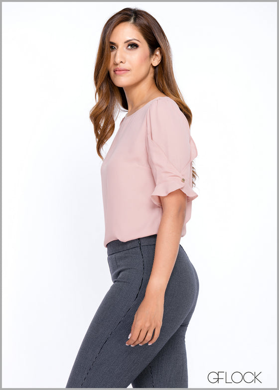 Sleeve Wrap Frill Workwear Top