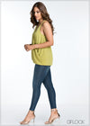 Twisted Front With Grommets Skinny Top - GFLOCK.LK