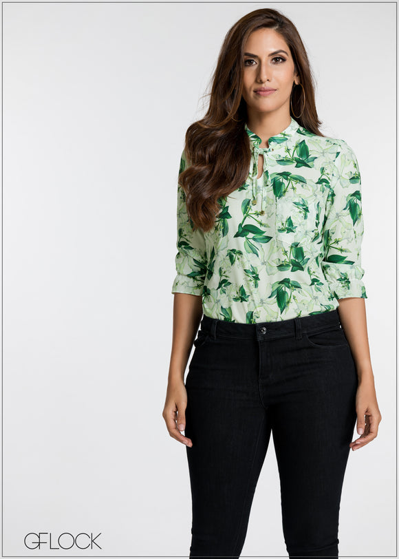 Tropical Printed Top