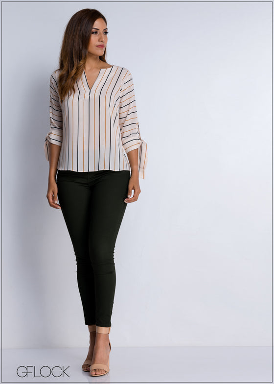 Striped Workwear Top