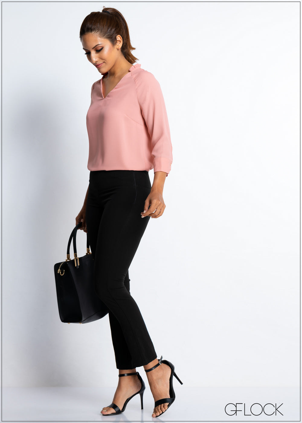 Frill Neck Workwear Top