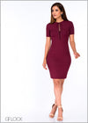 Ribbed Lace Up Bodycon Dres