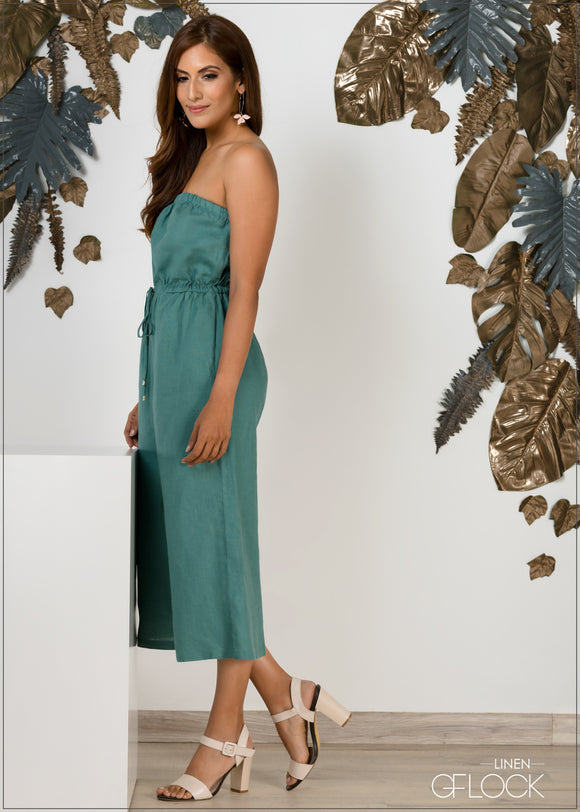 Tube Linen Jumpsuit