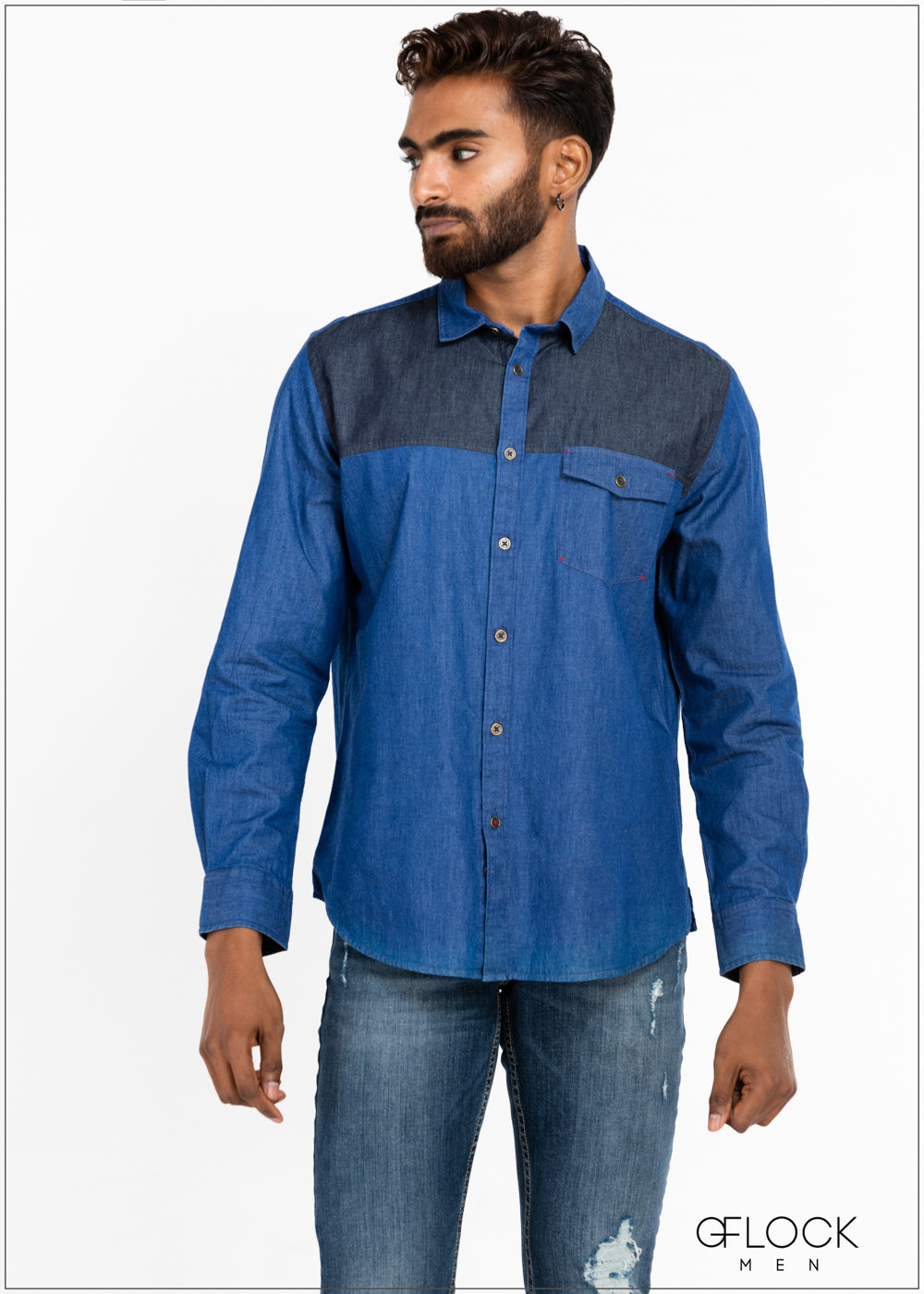 Contrast Chambray Shirt