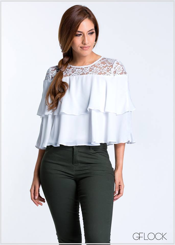 Layered Frill Lace Top