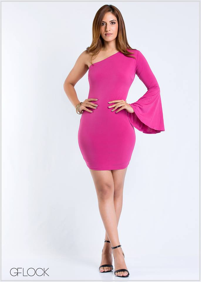 One Shoulder Bodycon Dress - GFLOCK.LK