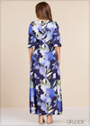 Printed Maxi Dress - GFLOCK.LK