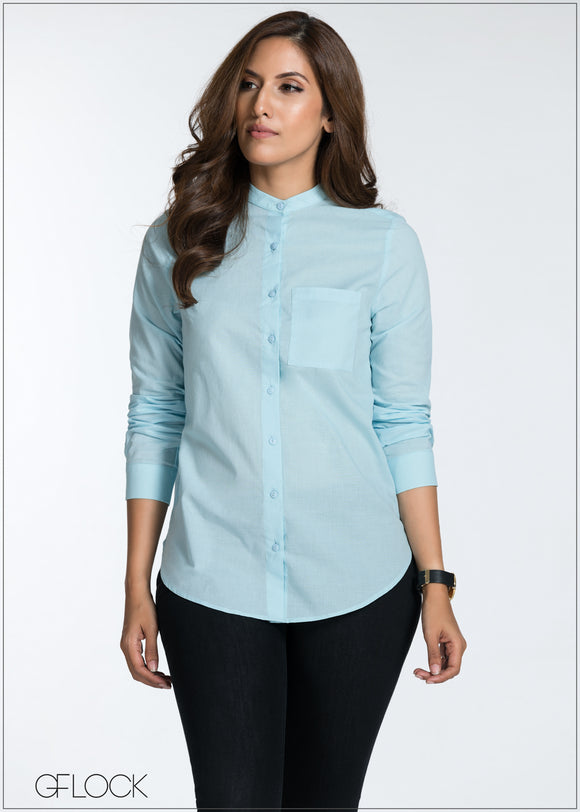 Basic Chinese Collared Top