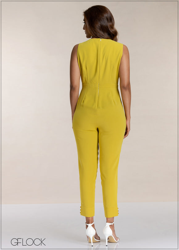 Ankle Cuff Detail Evening Jumpsuit