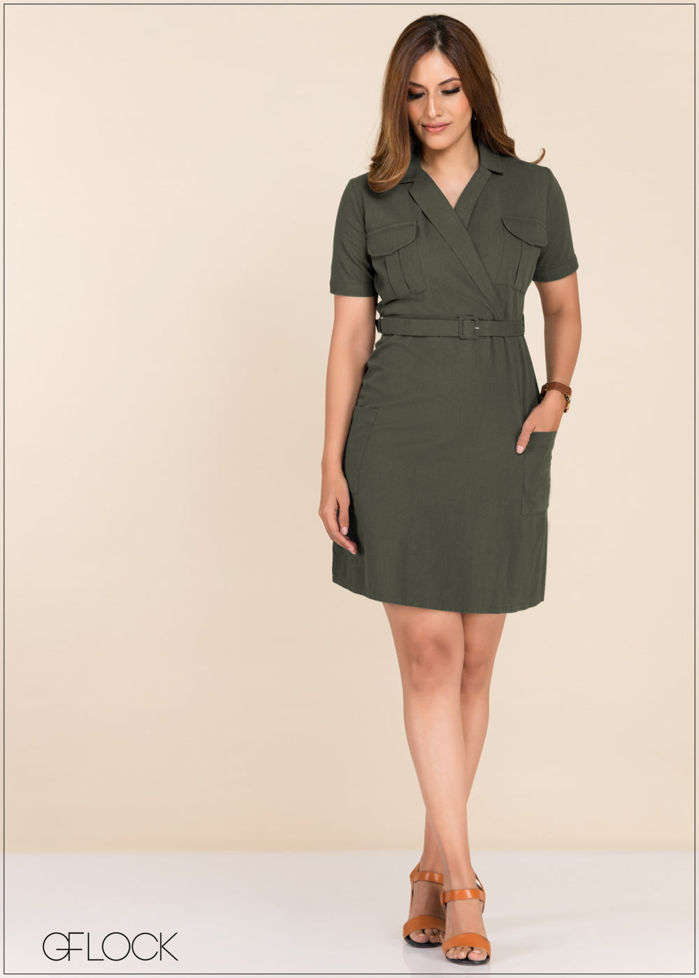 Front Wrap Dress - GFLOCK.LK