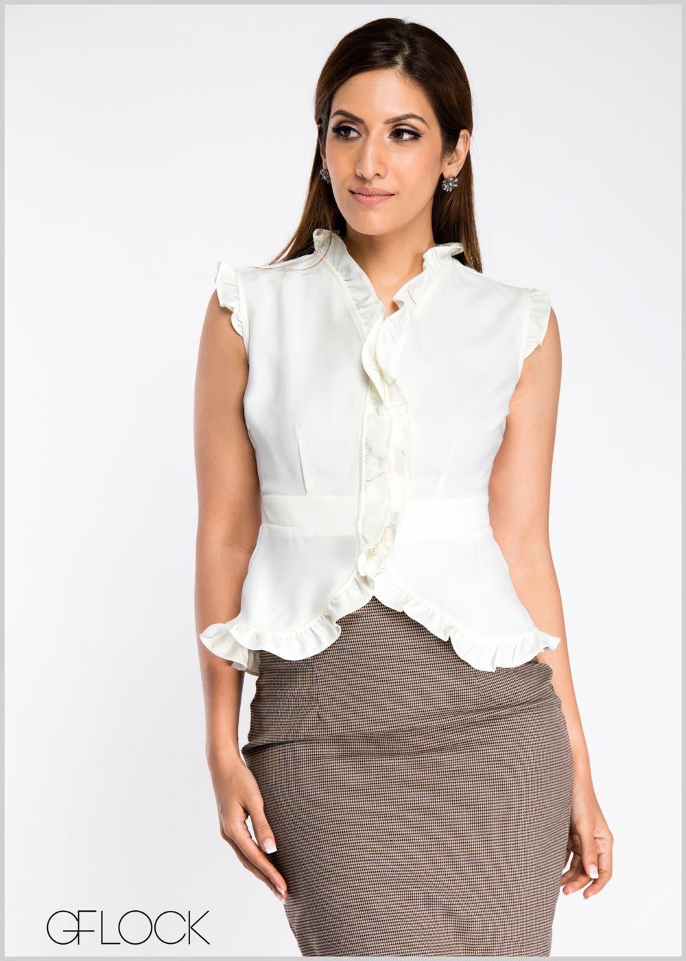 Frill Detailed Work Wear Top