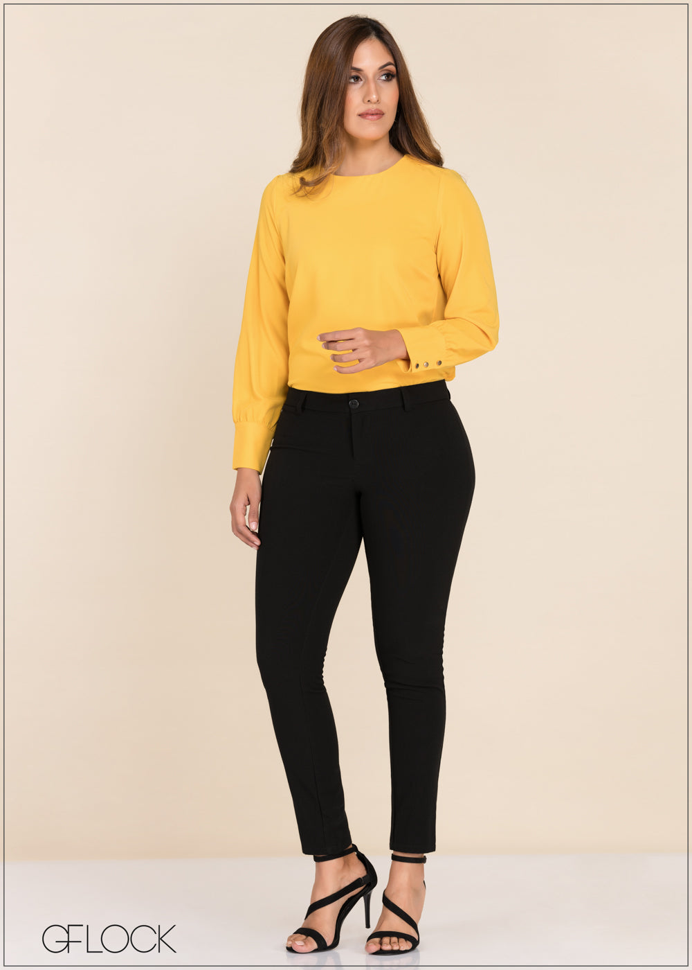 Button Detailed Long Sleeve Top - GFLOCK.LK