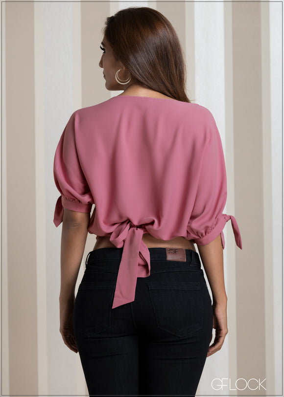 Back Tie Detail Evening Top