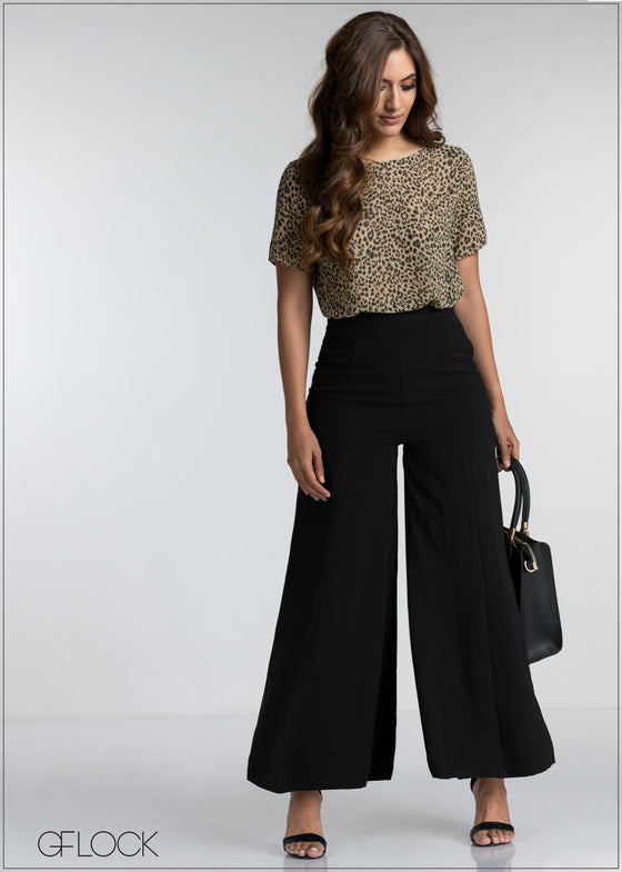 Leopard Printed Workwear Top
