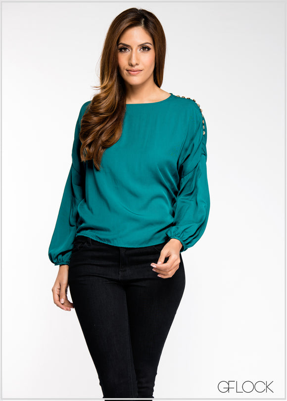 Buttoned Detail Top