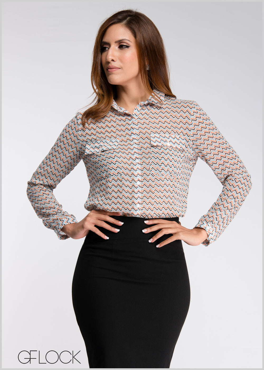 Printed Double Pocket WW Top