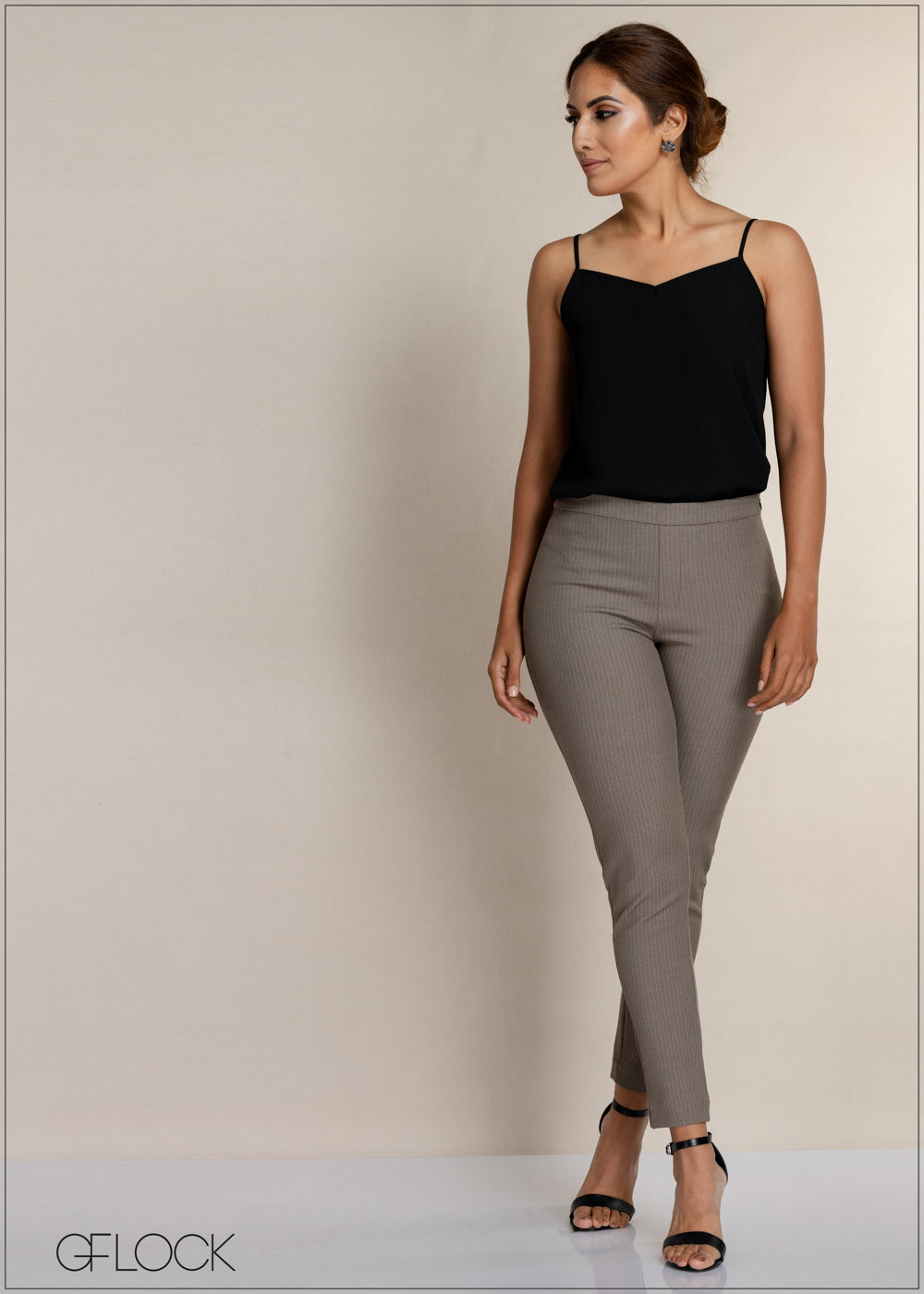 Striped Slim Leg Workwear Pant