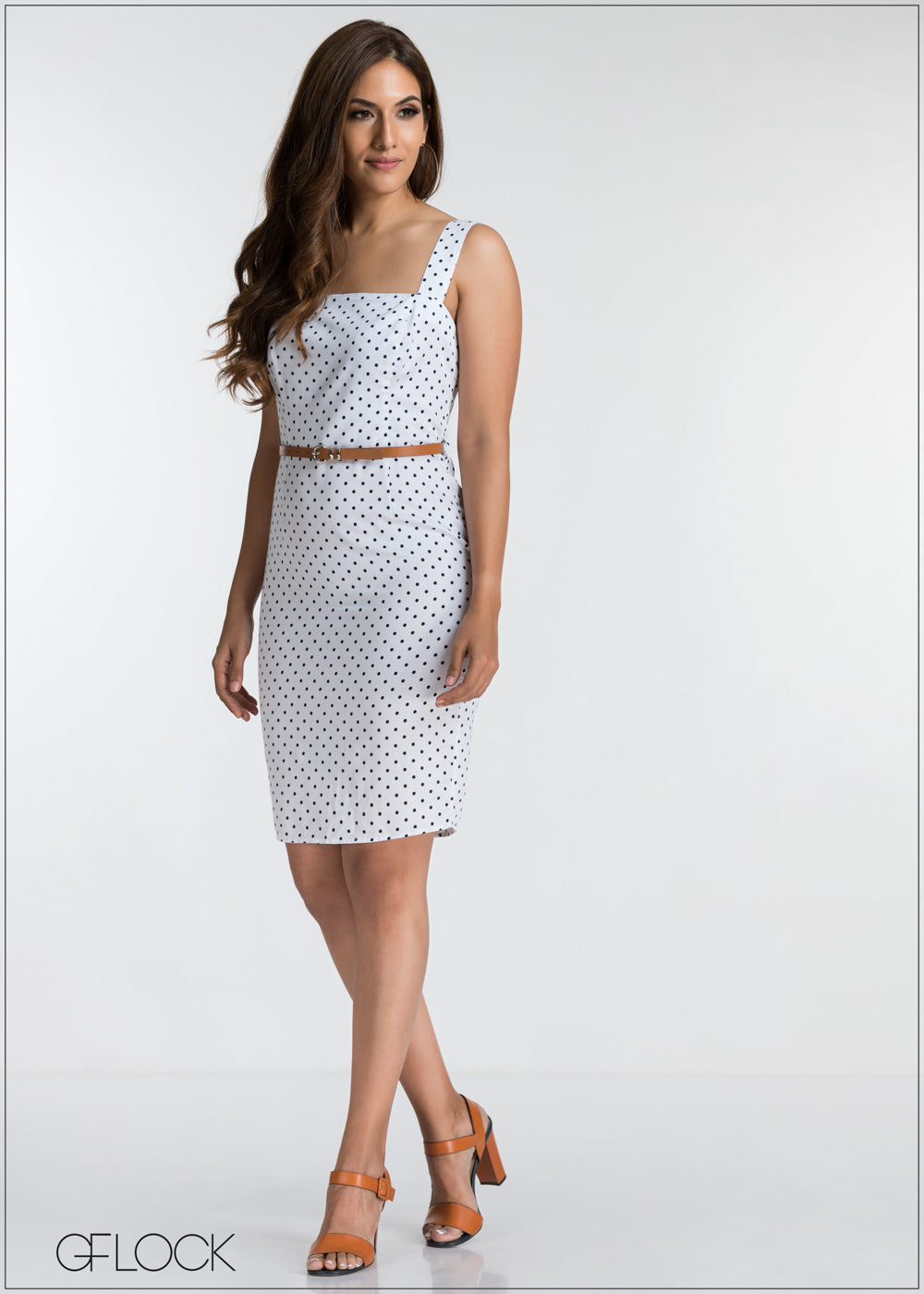 Polka Dot Bodycon Dress - GFLOCK.LK