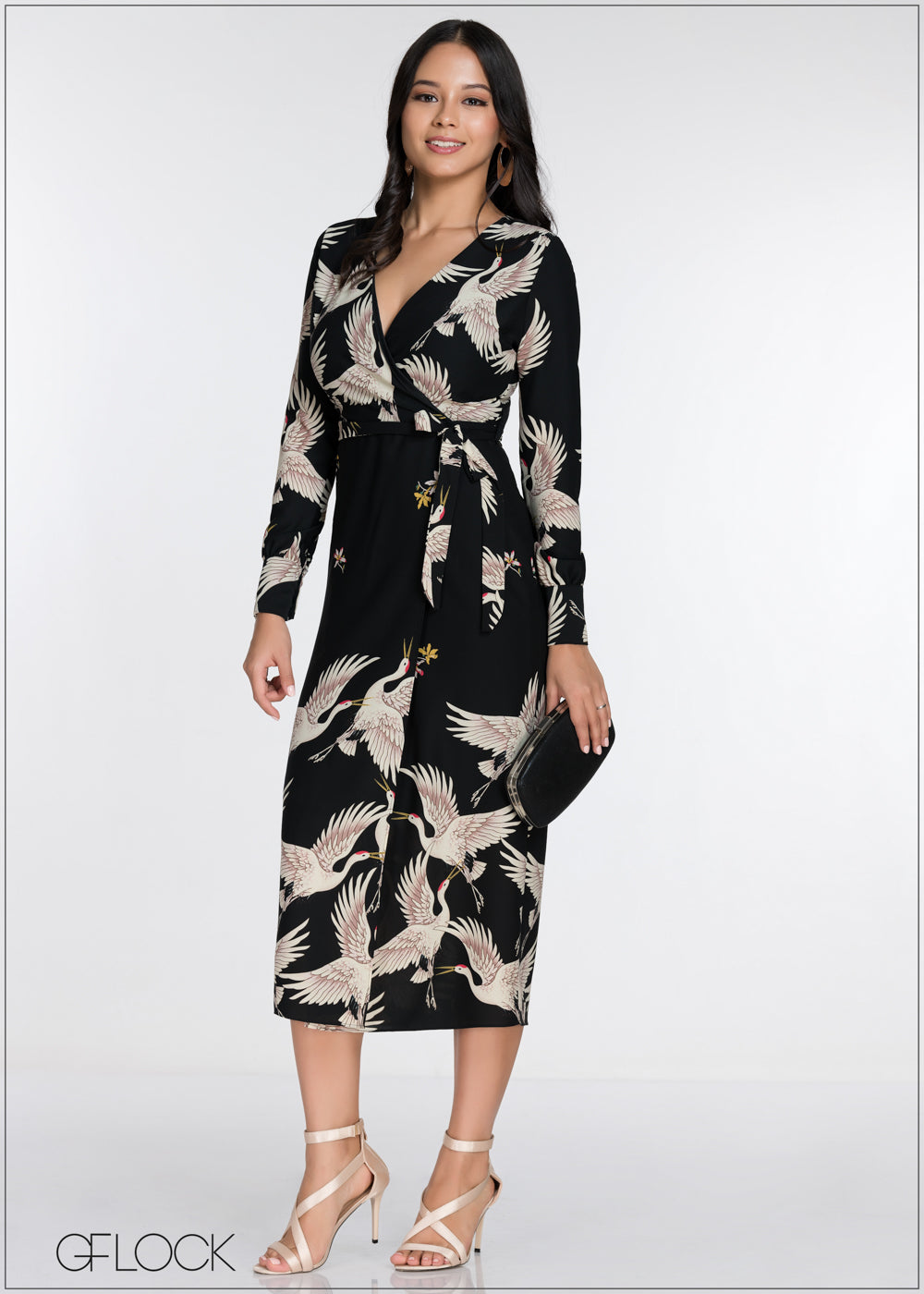 Printed Waist Tie Dress