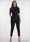 Front Criss Cross Jumpsuit - GFLOCK.LK