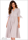 Linen Sleeve Tie Dress