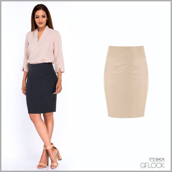 Seam Detail Workwear Skirt - GFLOCK.LK