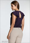 Flared Sleeve Workwear Top - GFLOCK.LK