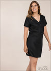 V Neck Wrap Dress - GFLOCK.LK