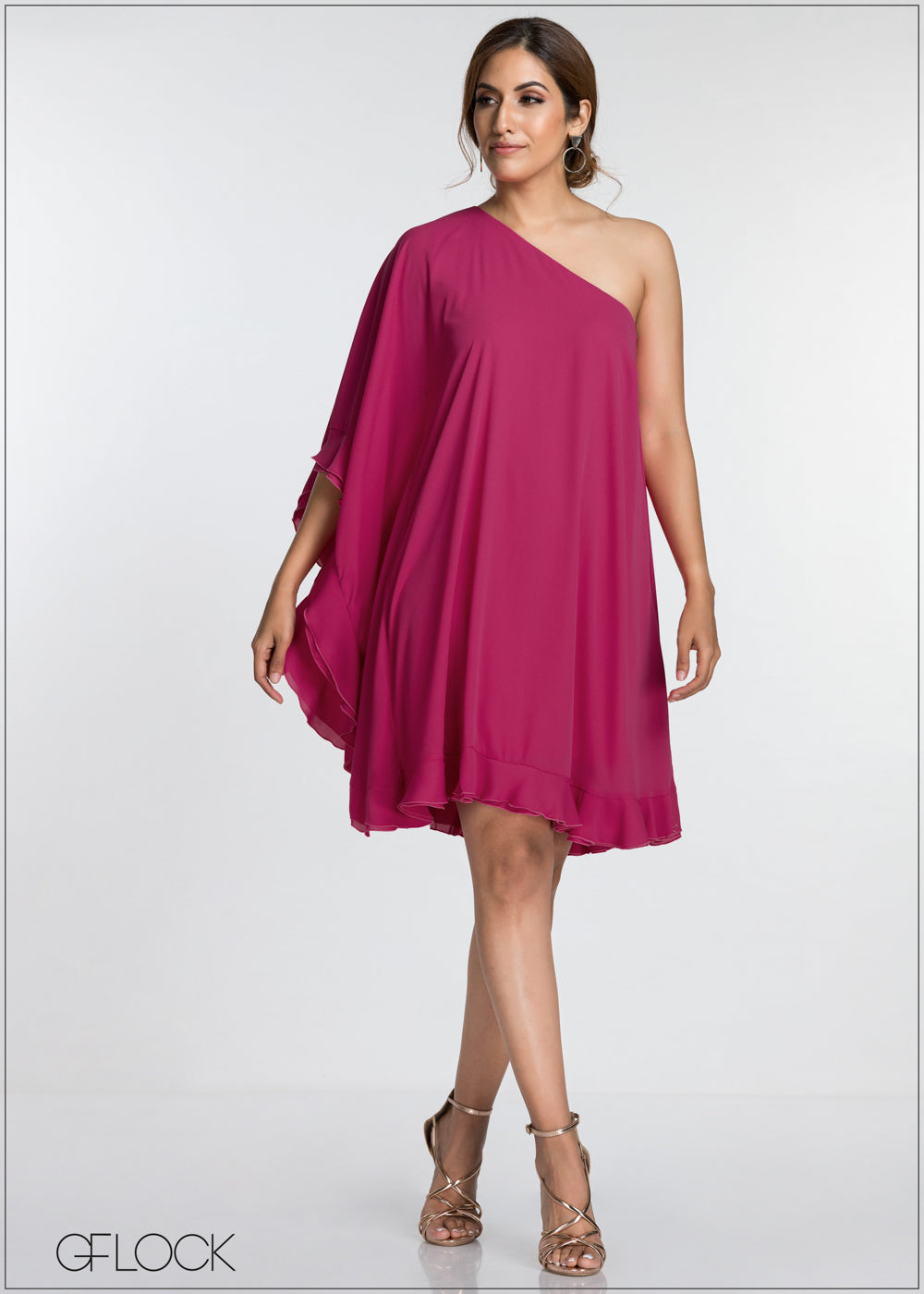 Frill Detailed Evening Dress - GFLOCK.LK