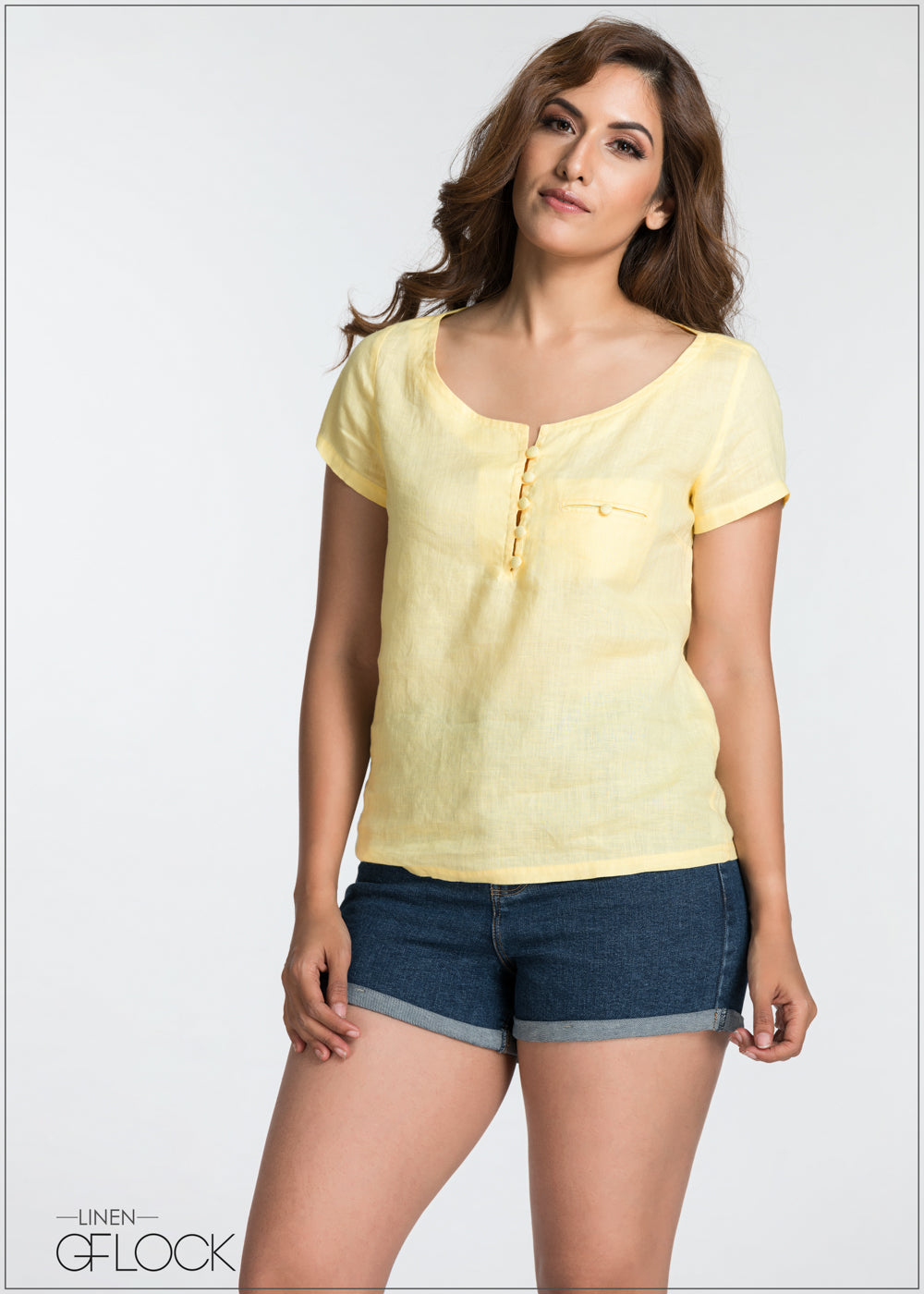 Casual Outing Linen Top