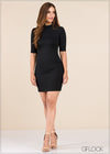 Ribbed Bodycon Dress - GFLOCK.LK