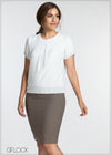 Pleat Detail Top - GFLOCK.LK