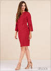 Split Sleeve Bodycon Dress - GFLOCK.LK