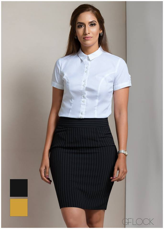 Fitted Short Sleeve Basic Workwear Top