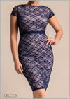Contrast Lace Dress - GFLOCK.LK