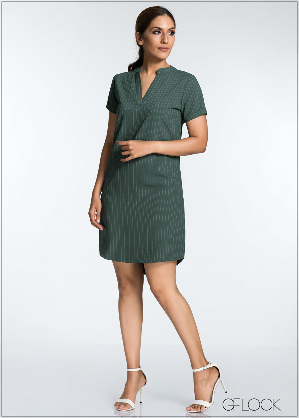 Loose Fitted Twill Dress