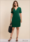 V Neck Shift Dress - GFLOCK.LK