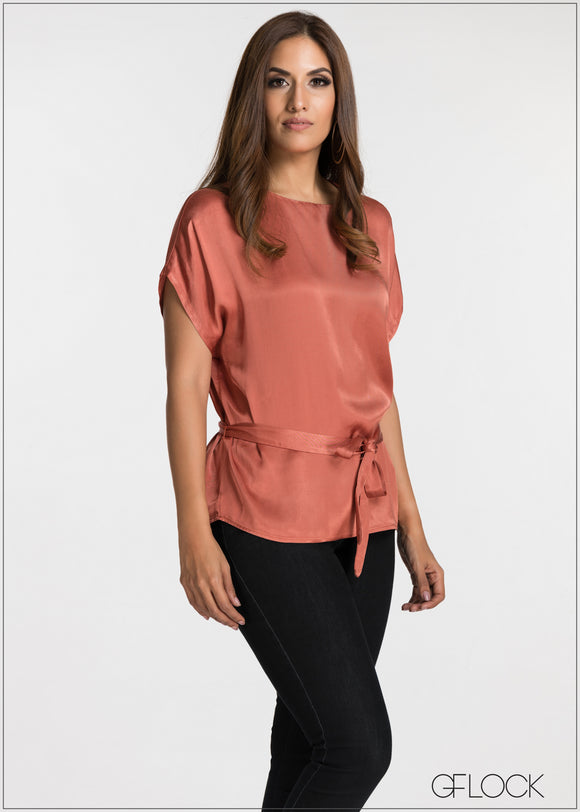 Front Tie Detailed Evening Top
