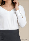 Shoulder Wrap Long Sleeve Top - GFLOCK.LK