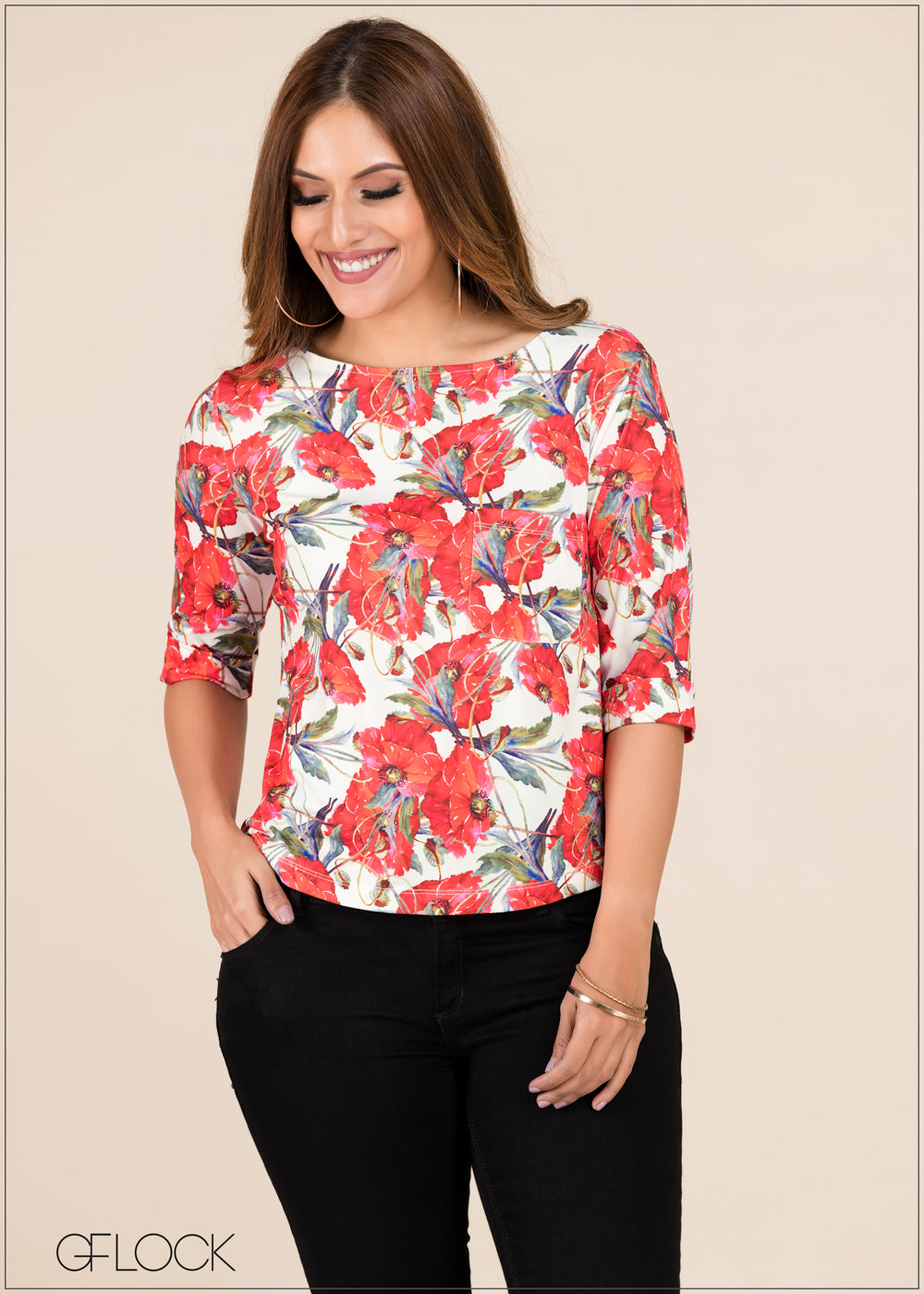 Printed Top - GFLOCK.LK