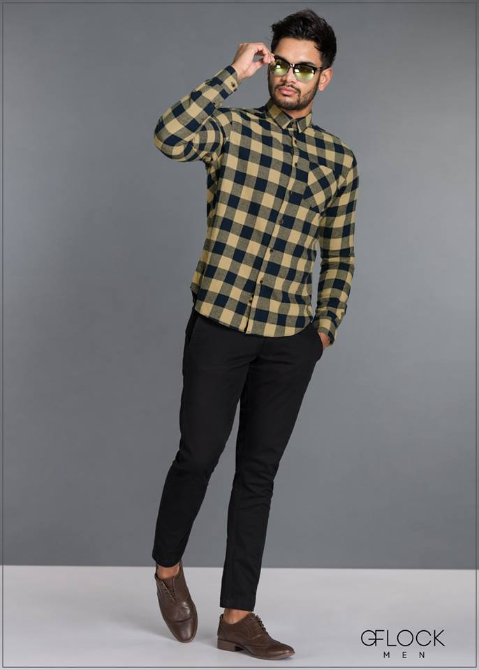 Checked Cotton Long Sleeve Shirt