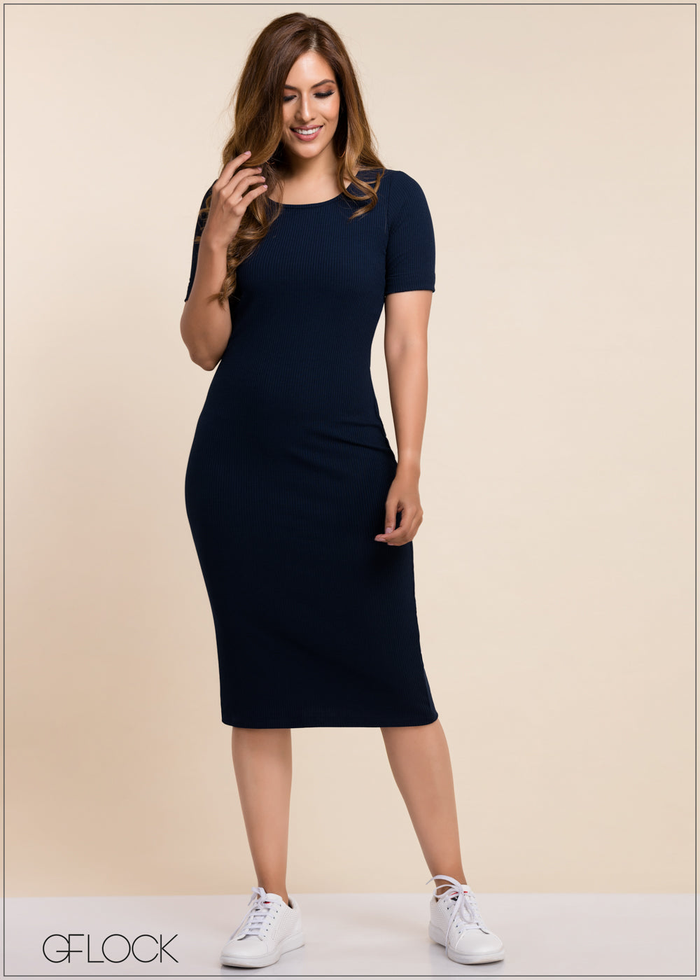 Rib Bodycon Dress - GFLOCK.LK