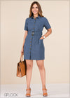 Front Buttoned Dress - GFLOCK.LK