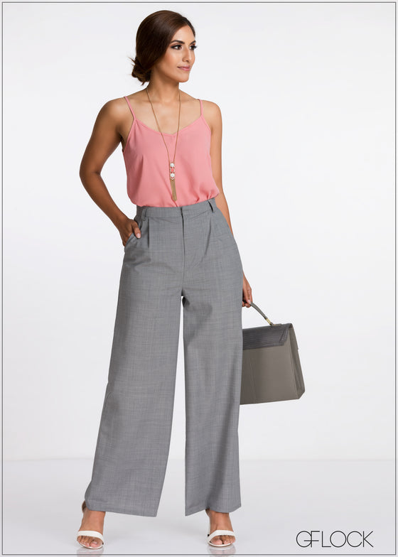 High Waisted Flared Leg Pant