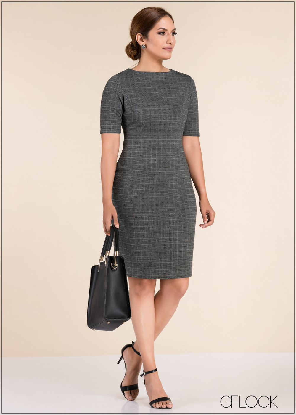 Plaid Shift Dress - GFLOCK.LK