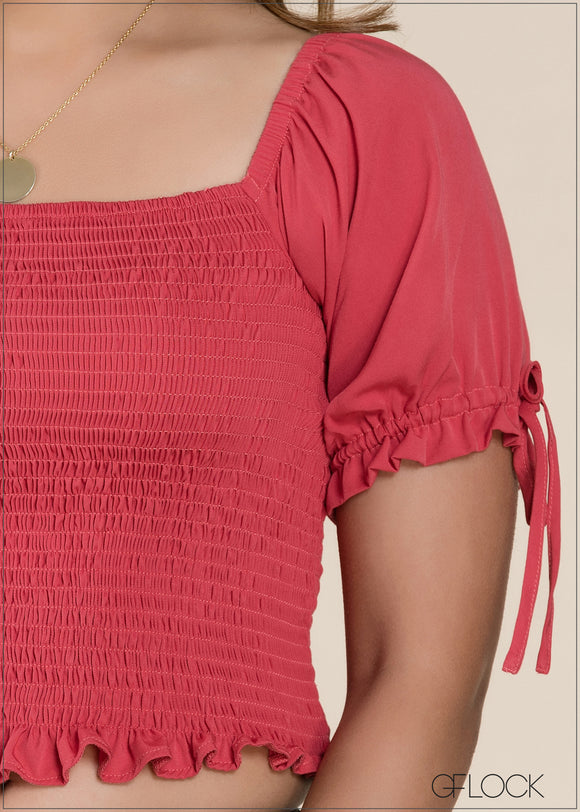 Smocked Detail Top