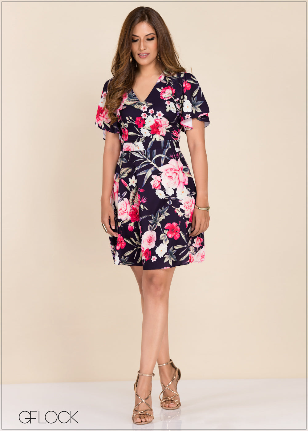 Printed Floral Dress - GFLOCK.LK