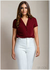 Collared Short Sleeve Workwear Top