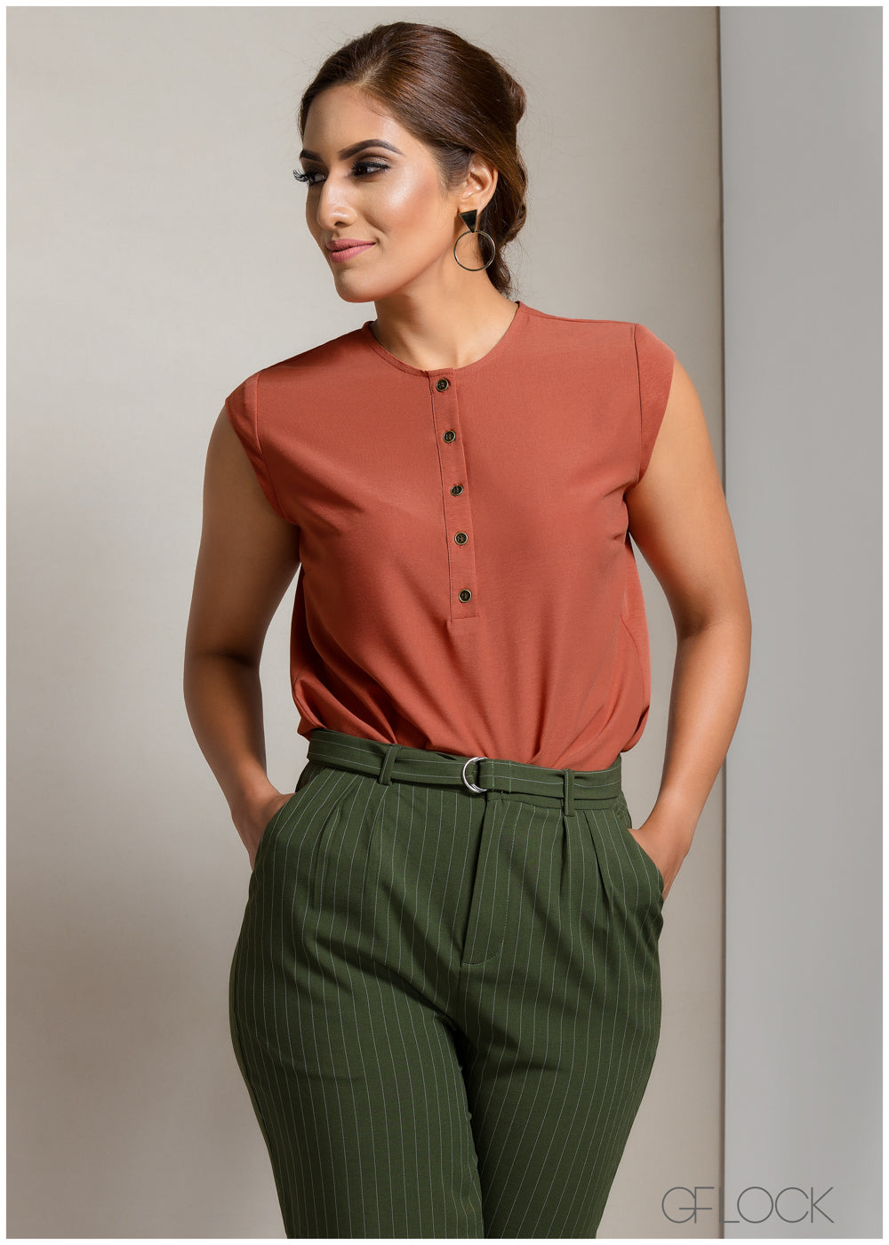 Buttoned Up Workwear Top