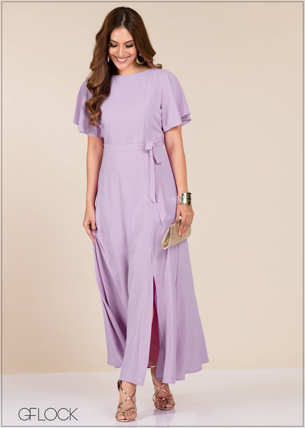 Front Slit Maxi Dress - GFLOCK.LK